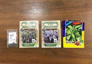 【バジルの種類】タイ料理やイタリア料理用に色々なバジルを栽培してみる