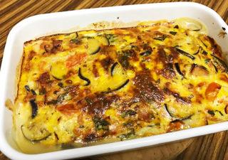 【野菜消費/レシピ】ナスとトマトをキッシュにして美味しく簡単にいただきます