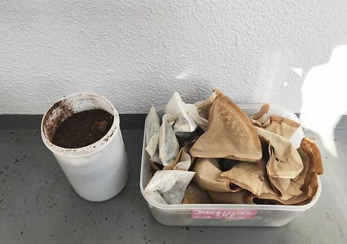 コヒーフィルターマルチで虫除け害虫対策