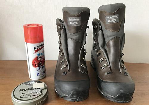 スカルパの登山靴をオイルメンテナンス