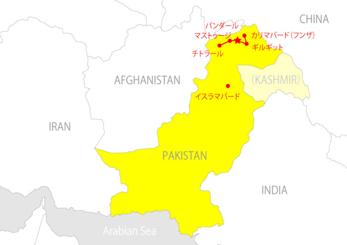 パキスタンマップ_チトラール