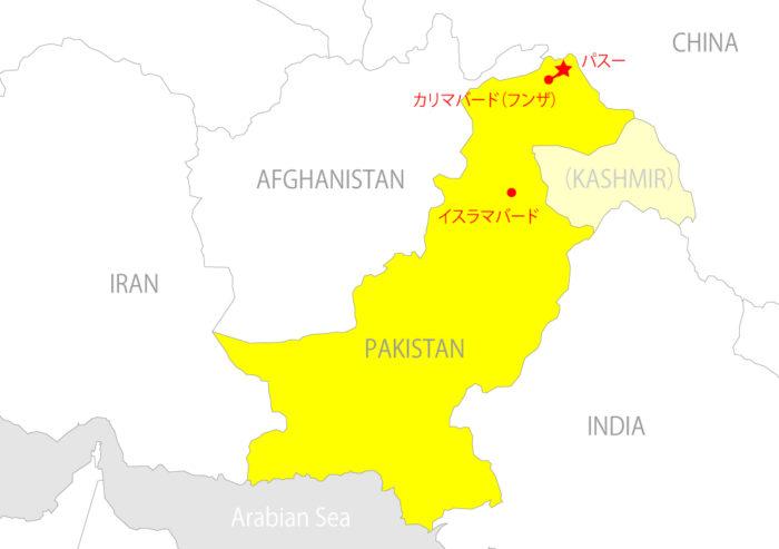パキスタンマップ_パスー