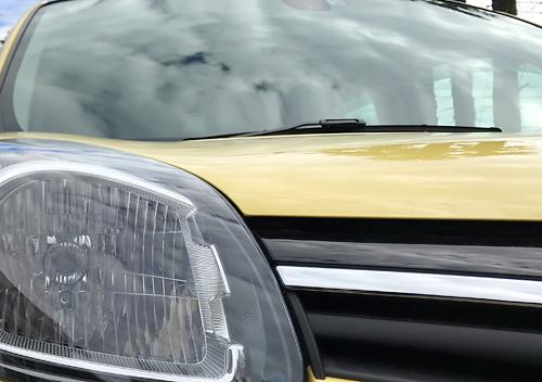 新型カングー ゼンEDCソリッドカラーの黄色をコーティング