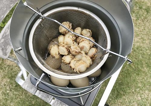 味玉とホタテ_キャプテンスタッグの燻製器で燻製作り