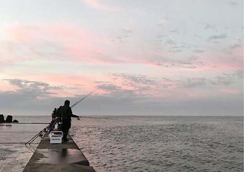 片貝漁港の釣り場_南新堤防
