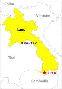 地図 ラオス メコン川 旅 一人旅 バックパッカー