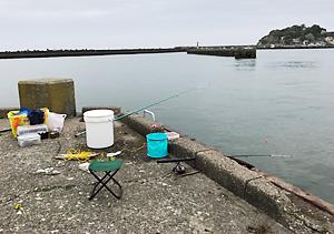 釣りキャンプ 大原漁港