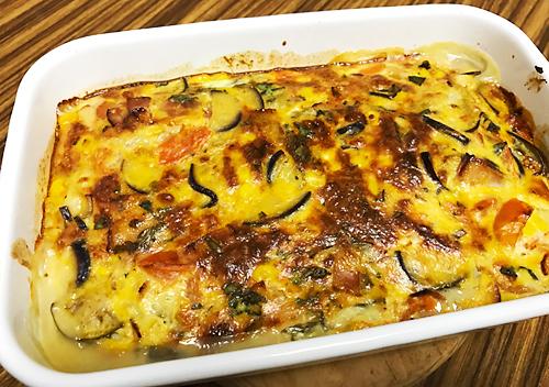 菜園野菜のキッシュ(生地なし)レシピ