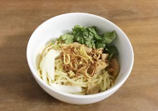 【タイ料理/パクチー】いなばの缶詰を使ってカオソイを作ってみた