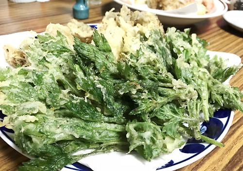 ヨモギの天ぷらの作り方