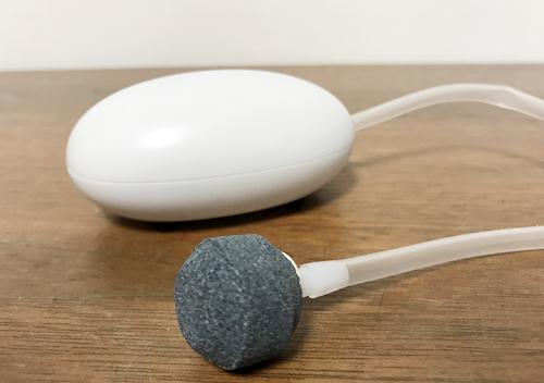 USB給電式エアレーションを実際に使ってみてののブクブク感