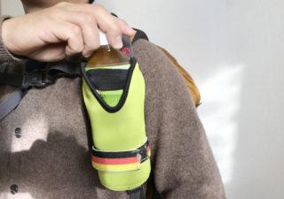 【登山/アイテム】リュックの肩にドリンクホルダを取り付け。これ楽チンです!