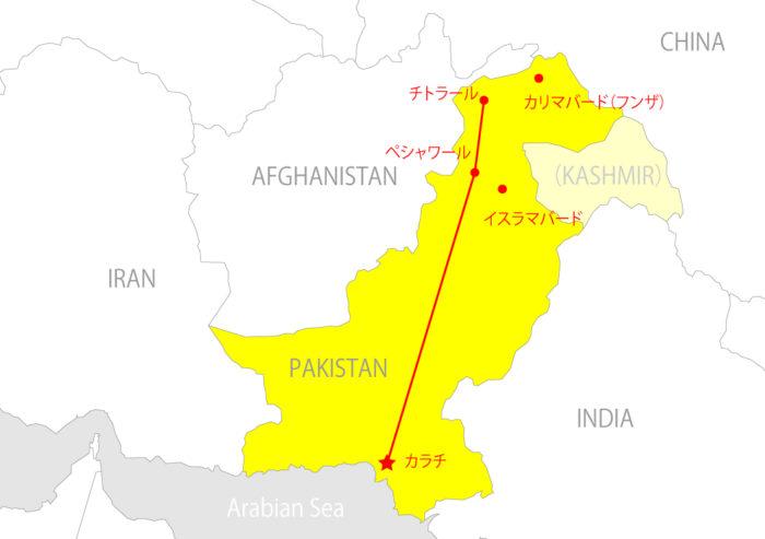pakistan_karatiパキスタン地図ペシャワール