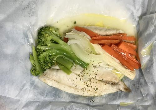 ワカシ(ブリ)のムニエル/簡単電子レンジクッキングシートレシピ