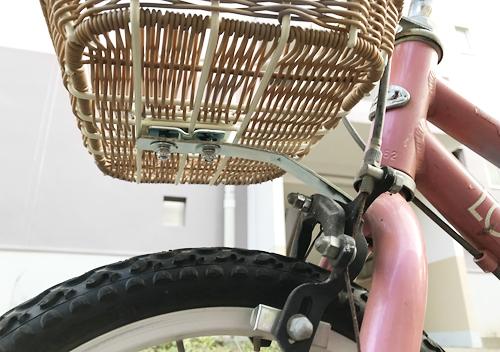 ルイガノ子供用自転車の前かごの取り付け方