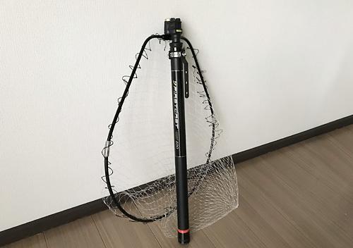 メジャークラフトのタモ網にタモホルダー(フック)を自作して装着