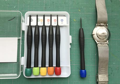 スカーゲンの腕時計_簡単電池交換