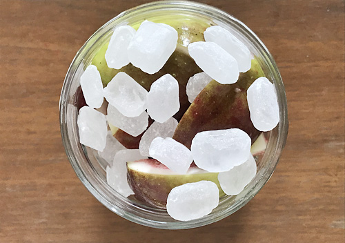 無花果(イチジク)シロップの作り方_氷砂糖漬け