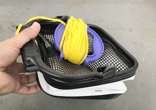 評判の良いダイワの網蓋付き水汲みバケツが機能的で使いやすい