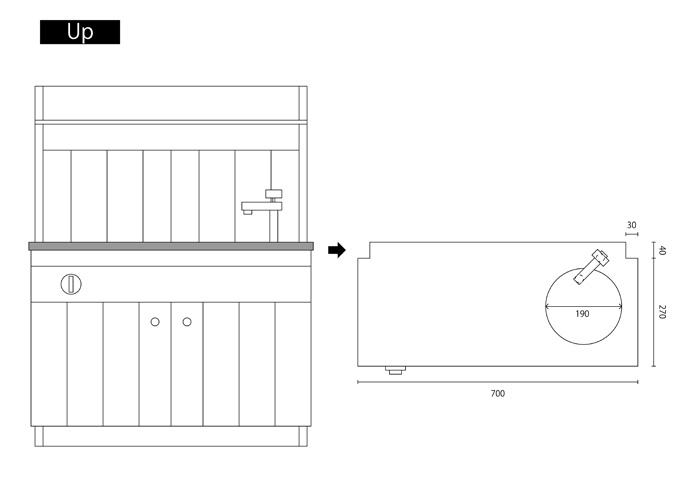 ままごとキッチンの作り方(設計図)up