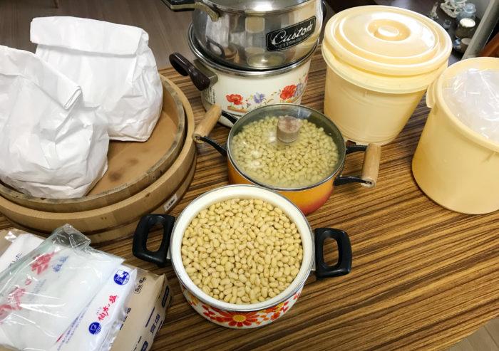 自家製味噌仕込み_「作り方」「材料」「道具」地元で購入した麹を使用