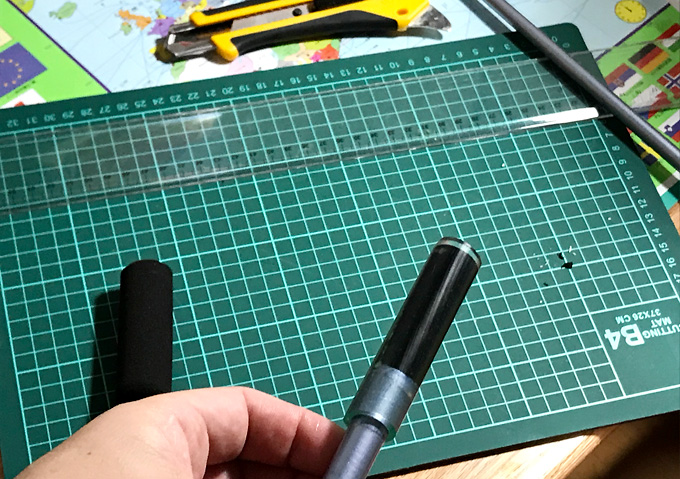 DIY【簡単】自作の竿延長方法_ホームセンター部品