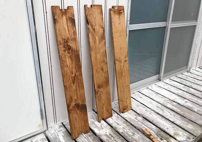 【カングー/カスタム】木製トノボードを自作オイルステイン