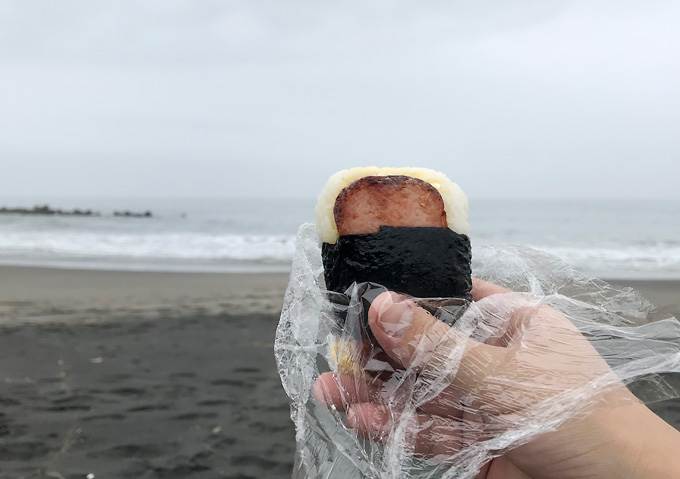 九十九里浜でピクニック