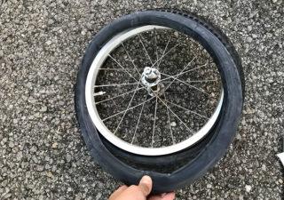 【子育て/自転車】ルイガノのジュニアバイクのタイヤチューブ交換しました。