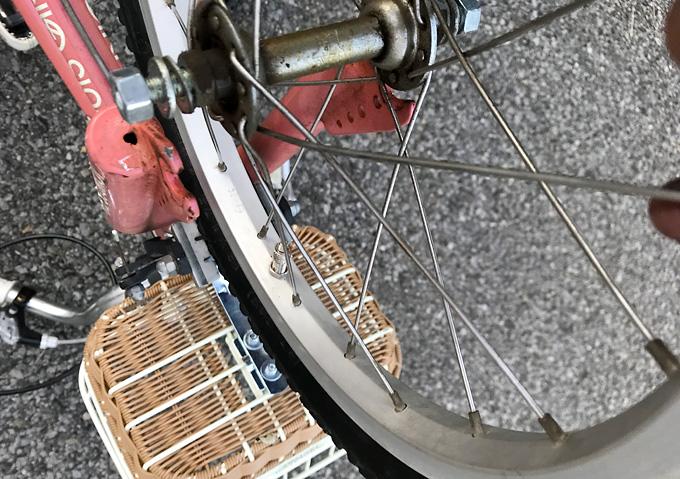 ルイガノ 子供用自転車のタイヤ・チューブ交換