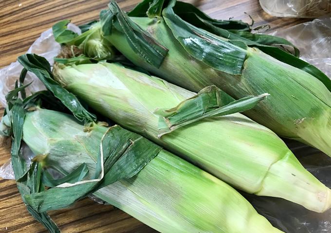 銚子のトウモロコシ。スーパータイヨーでお土産探し