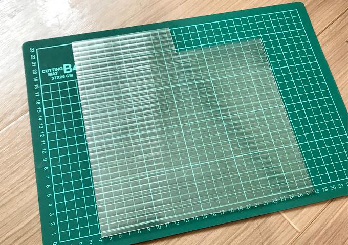 【DIY】水槽天板の自作方法(プラ板をカット)