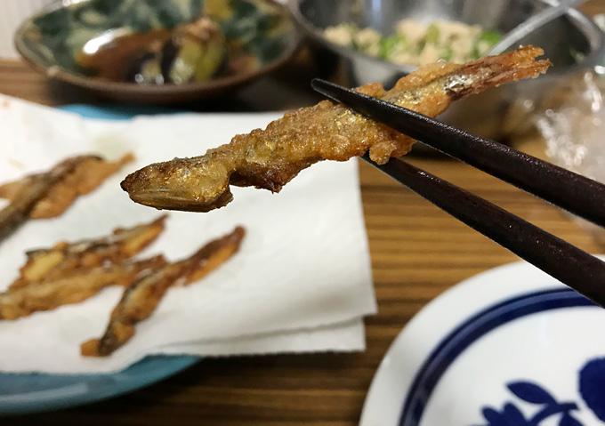 釣りレシピ:片口鰯(カタクチイワシ)の唐揚げ