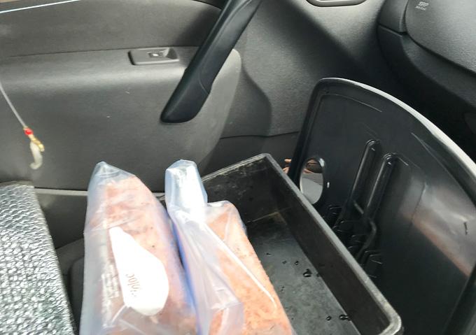 冷凍コマセの解凍