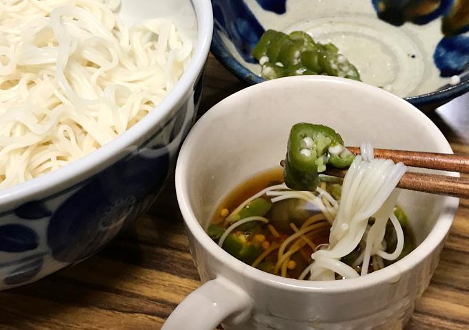 【オクラ消費レシピ】素麺の薬味に。夏野菜家庭菜園メニュー