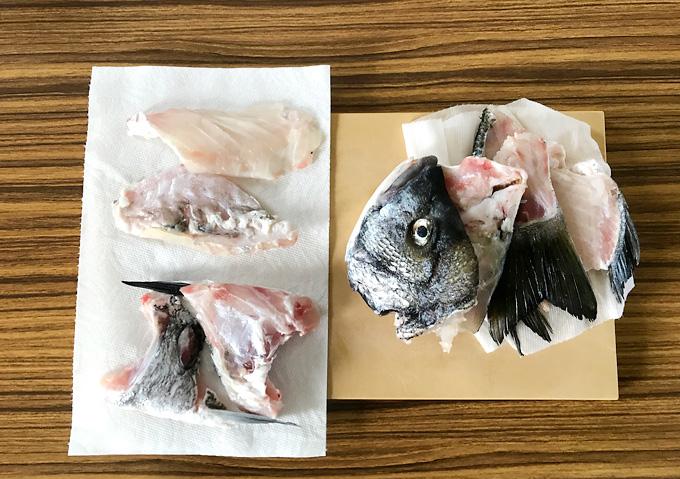 【釣り飯/鯛めし】食材・クロダイの炊き込み