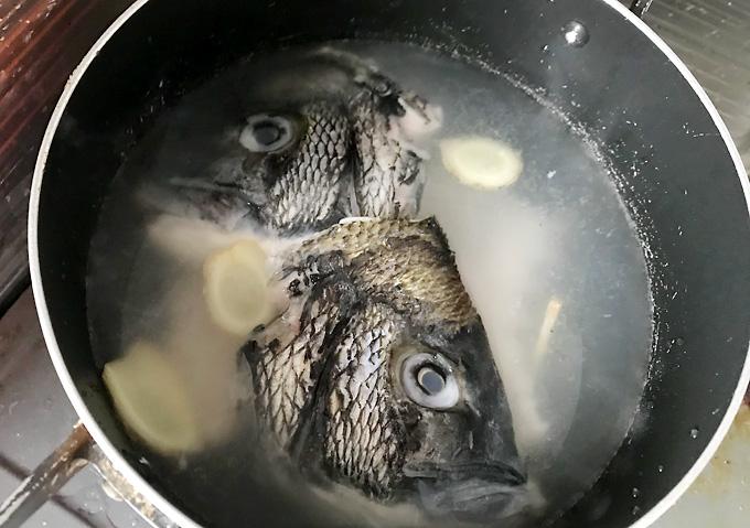 【釣り飯/鯛めし】クロダイの炊き込み