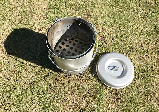 【キャンプ/火起こし】キャプテンスタックの壺で簡単炭火バーベキュー。
