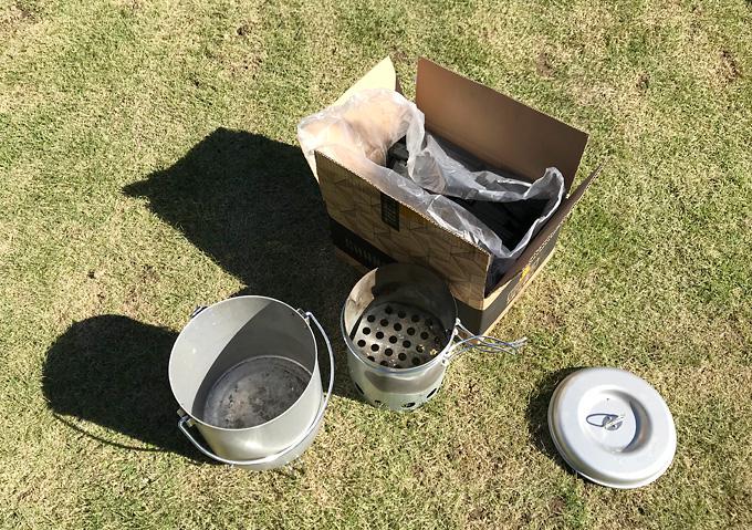 【キャンプ(アイテム)/火起こし】キャプテンスタックの壺で簡単炭火バーベキュー。