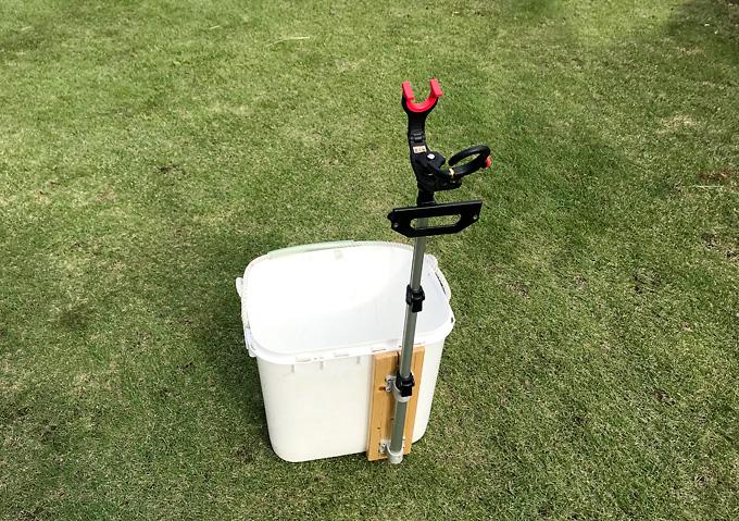 【釣り/アイテム】DIY・クーラー受け三郎をバケツに取り付けてみた