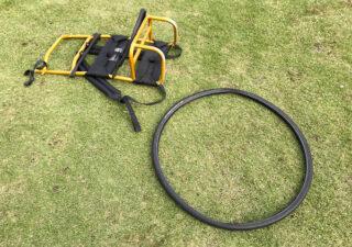 【釣り/背負子】エバニューのキャリーボーン・擦り減った底を古タイヤで補強