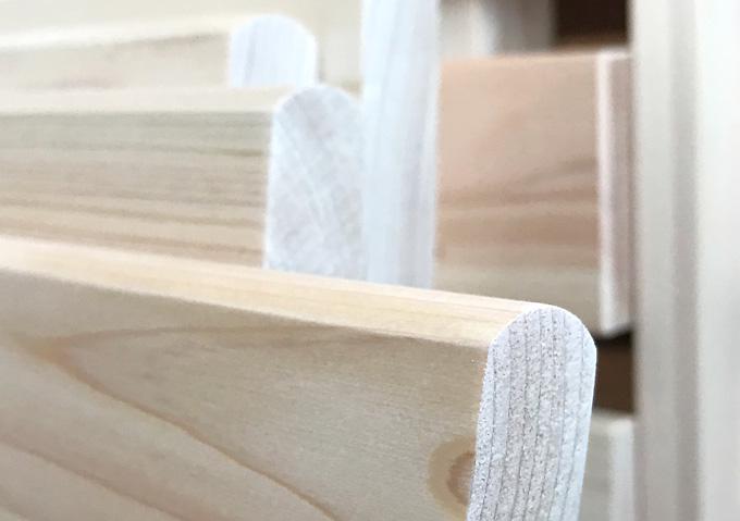 KUSKUSU(クスクス)【無垢材2段ベッドのレビュー】仕上げ(面取り)が綺麗。角が丸い!