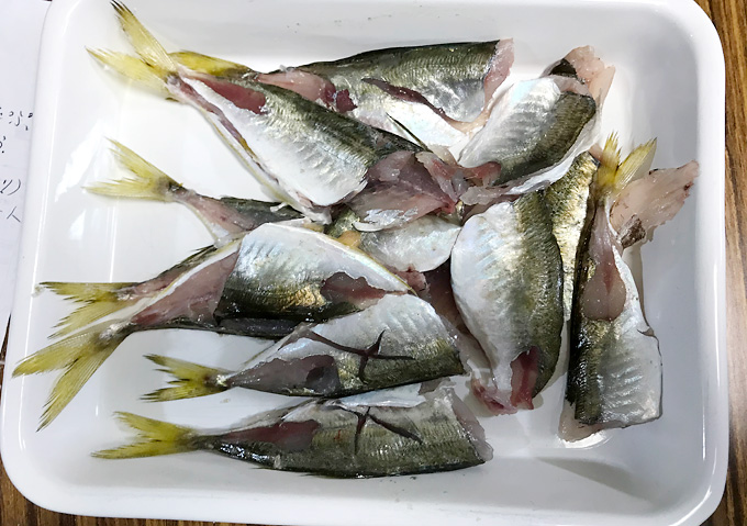 【釣り飯レシピ】簡単アジの南蛮和え