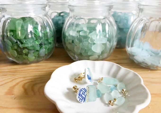 【銚子/ビーチコーミング】シーグラスが拾える海岸(千葉)アクセサリー作り