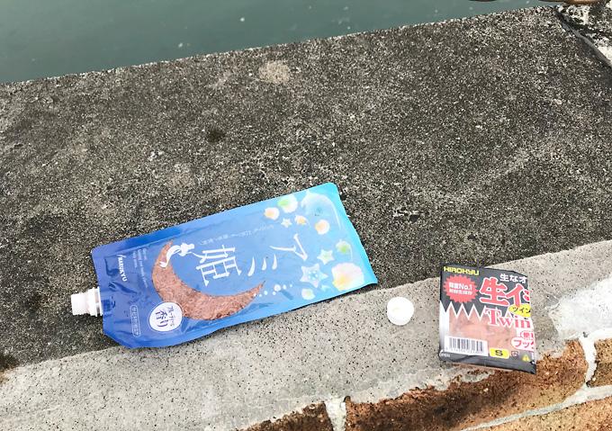 銚子/釣り_堤防サビキにアミ姫。イワシ小魚の群れ(釣れる臭い対策)
