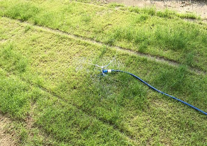 【芝生用/DIY】スプリンクラー/ホースに簡単装着可能/自分で水管理